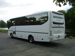 Back view of Donoghue's 33 seater mini coach