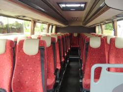 Donoghues 33 seater coach inside