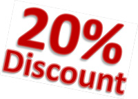book now for 20% disount
