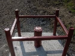 Typical well Cap with Safety Cage