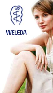 Weleda Logo and Health Woman Image