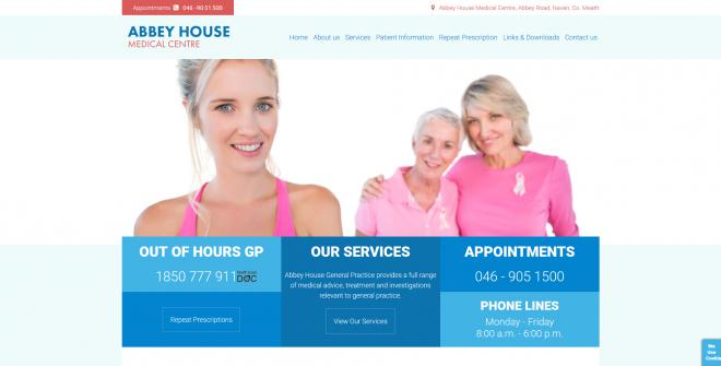 Abbey House Medical Centre Website Image