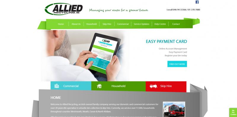 Allied Recycling Website Image