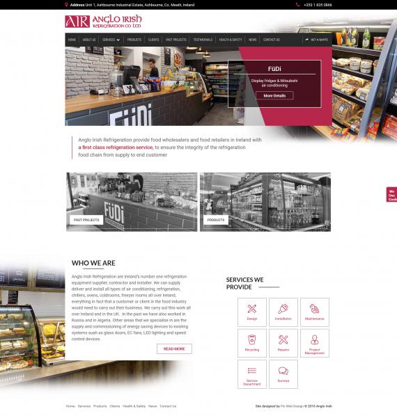 Anglo Irish Refrigeration Website Image