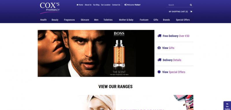 Coxy's Pharmacy Website Image