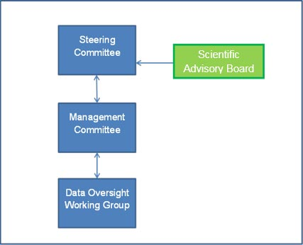 Diagrammatic representation of the IPCOR governance structure