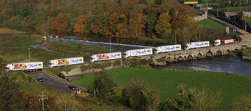 The Meade fleet crossing the Slane Bridge