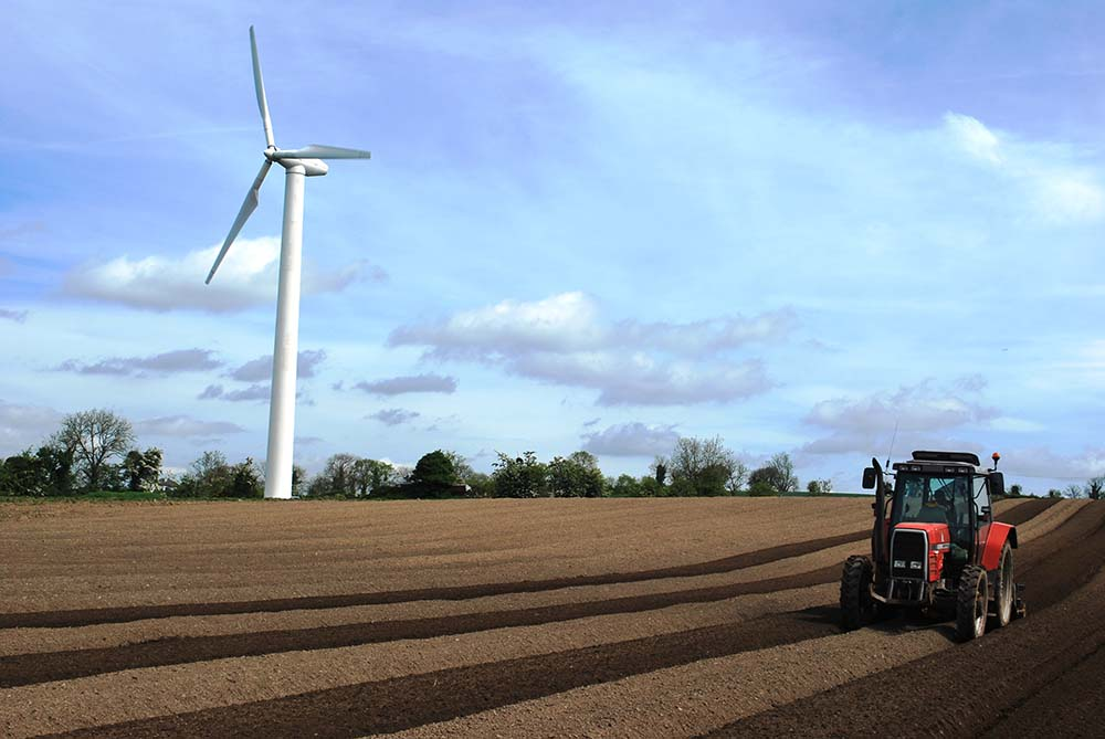 In 2013 a wind turbine was installed as one of many measures to increase our sustainability