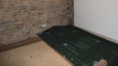 Figure 11 - pro clima DA airtight membrane installed over natural insulation