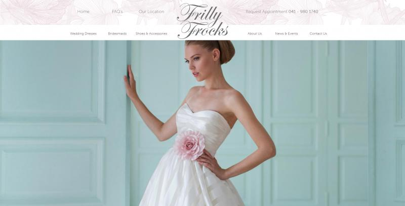 Frilly Frocks Website Image