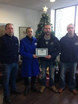 Renatas pictured centre with Tommy, Radek and Philip Jr. for our Potato Division