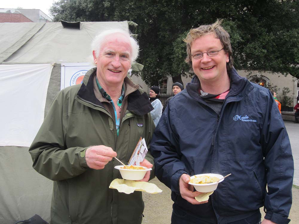 Duncan Stewart and our Farm Manager Conor O'Malley at the Dublin Feed the 5000 event