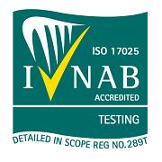 INAB Testing National Accreditation Symbol. Accreditation number 289T.