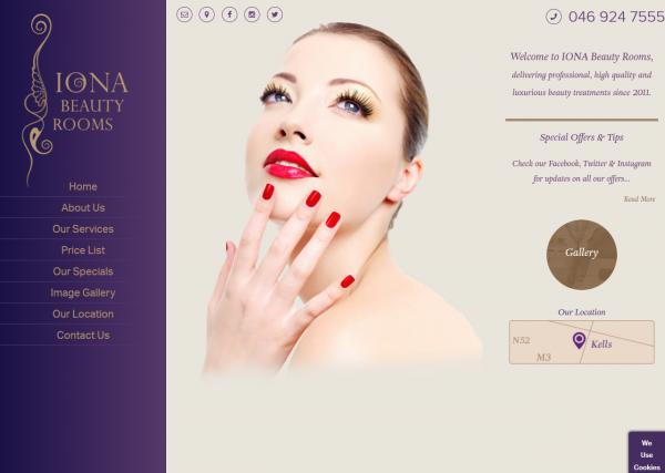 Iona Beauty Rooms Website Image