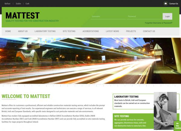 Mattest Website Image