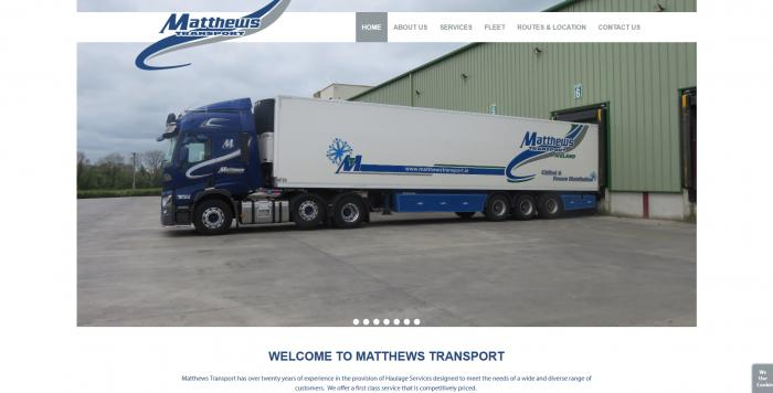 Matthews Transport Ireland Website Image