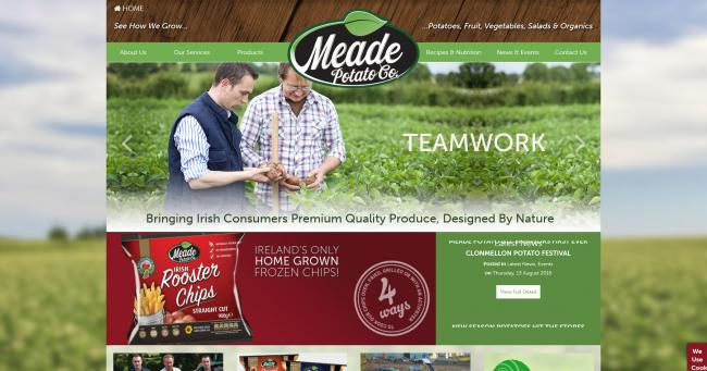 Meade Potato Company Website Image