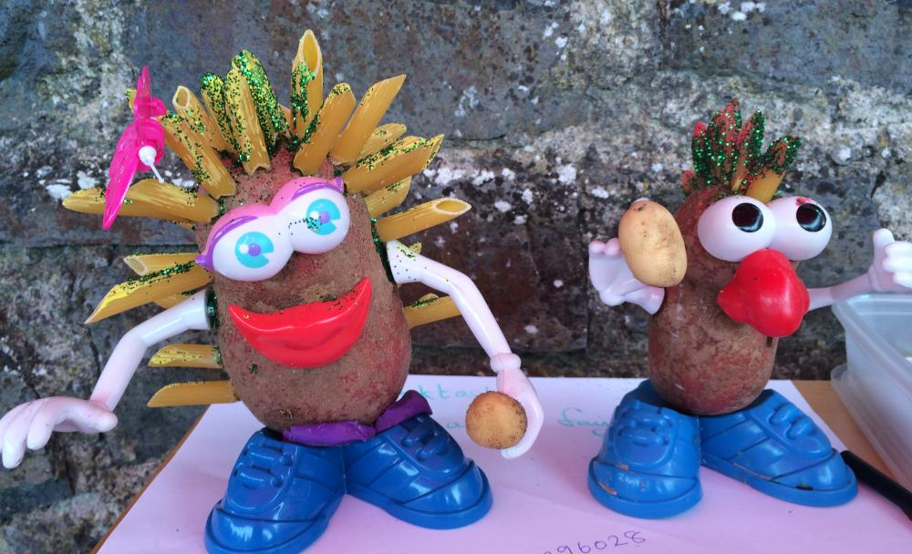 Potato crafts at the Clonmellon Potato Festival - spudtastic effort!