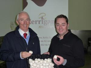 Neven MaGuires visit to our mushroom farm