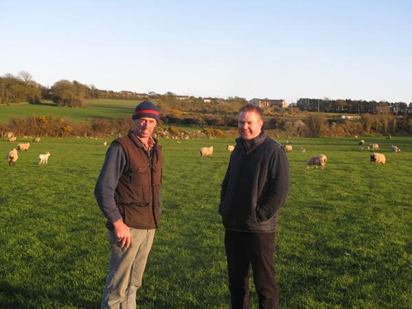 Ned Morrissey host farmer with Philip Creighton