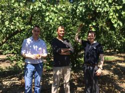 Patrick and James visit our apricot grower in Spain.