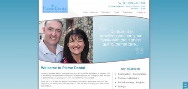 Pierse Dental Website Image
