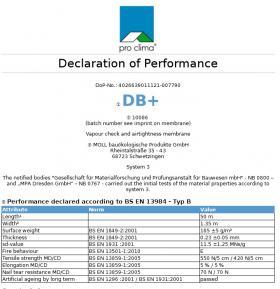 pro clima DB Plus