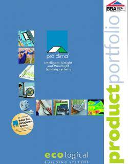pro clima product portfolio - Ecological Building Systems