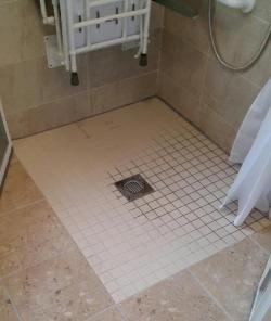 Access level shower
