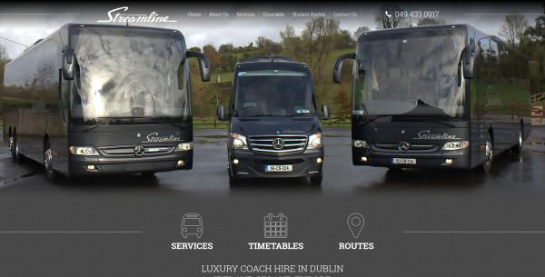 Streamline Coaches Website Image