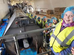 Students of Heronstown and Newtown NS in Lobinstown get a behind the scenes look at the journey of the potato from field to fork.  The company invited the schools down to celebrate the spud in advance of National Potato Day which is on Friday, October 6.