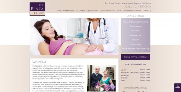 The Plaza Clinic Website Image