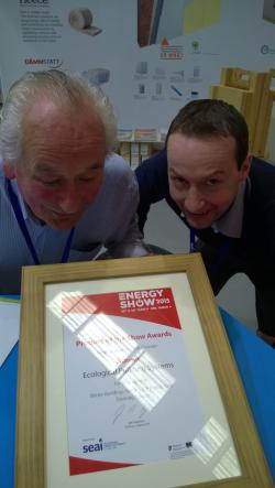 Peter & Adrian pleased the receive the award!
