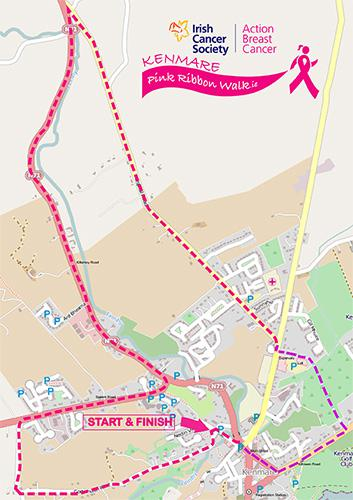 Kenmare Pink Ribbon Walk route map