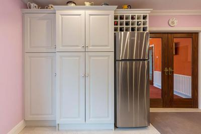 Built in White Pantry Units