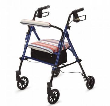 Lightweight 4 Wheel Rollator with Desk Chair Style Design
