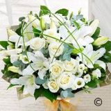 Wonderfully White Hand-tied Bouquet  Extra Large Size