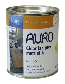 AURO 261 Natural Clear Lacquer Matt Silk Varnish