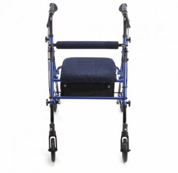 Lightweight 4 Wheel Rollator With Navy Blue Cover