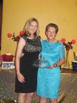 Judith Giles with Lady President Mrs. Irene Giles