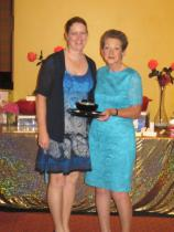 1st Prize Winner Ruth Kerrigan with Lady President Mrs. Irene Giles