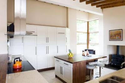 Walnut island kitchen