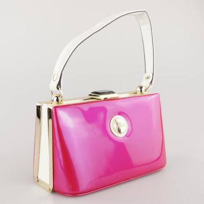 Peach Vintage Style Bag in Fushia