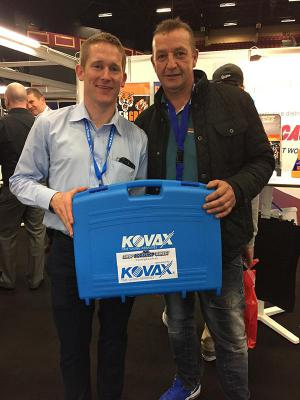 Winner of the KOVAX Assilex Kit - Joe Pye from Skins on Rims with our rep Bryan.