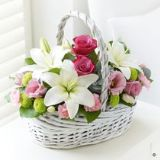 Beautiful Basket  Pink
