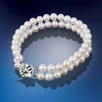 Princess Grace Double Row Pearl Bracelet