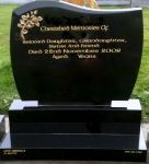 Black Granite C1 Headstone