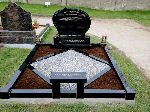 Black Granite Curved Headstone