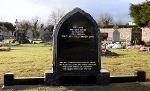 Black Granite Gothic Headstone