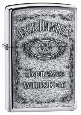 Jack Daniels Chrome Zippo Lighter